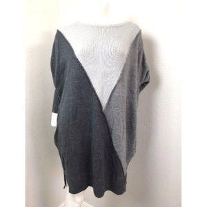 Style & Co Grey Sweater Tunic Xlarge Xl Blouse